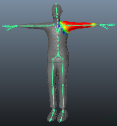 Interactive Skin Bind, one of many skinning methods