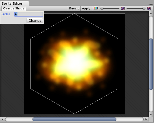 Sprite Editor: Polygon resizing - shape