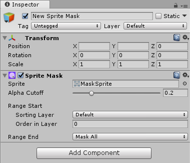 Unity - Manual: Sprite Masks