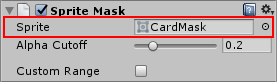 The Sprite to be used as a mask needs to be assigned to the Sprite Mask Component