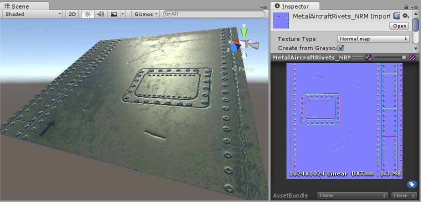Unity Manual Normal Map Bump Mapping