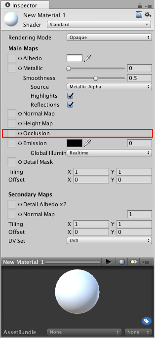 Unity - Manual: Occlusion Map