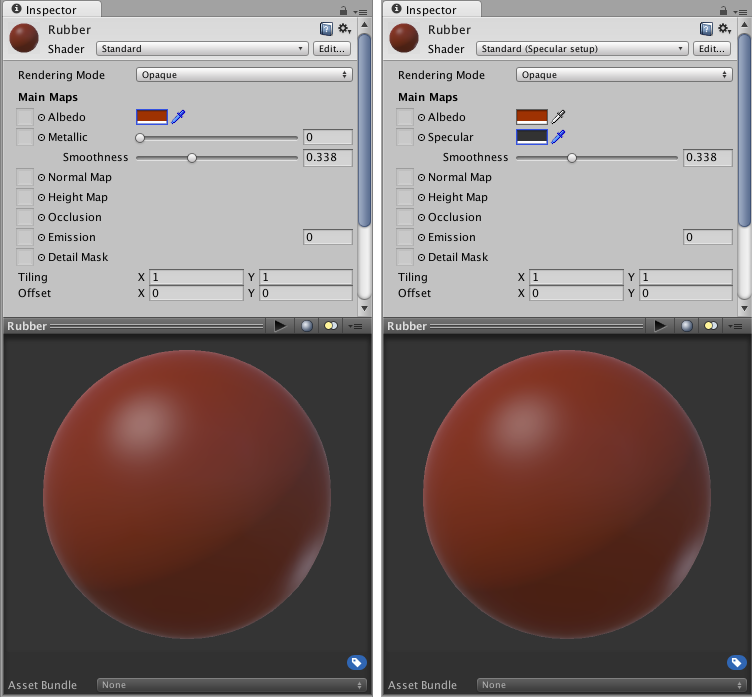 Unity - Manual: Metallic vs Specular Workflow