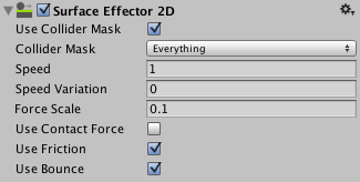 The Surface Effector 2D Inspector