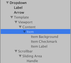 A more advanced dropdown setup that includes a scrollview that enables scrolling when there are many options in the list.