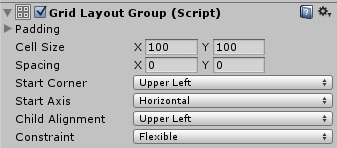 Unity - Manual: Grid Layout Group