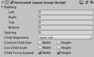 Unity - Manual: Horizontal Layout Group