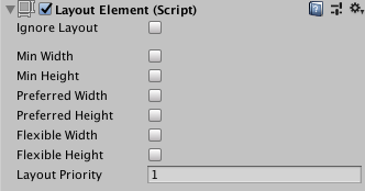 Unity - Manual: Layout Element