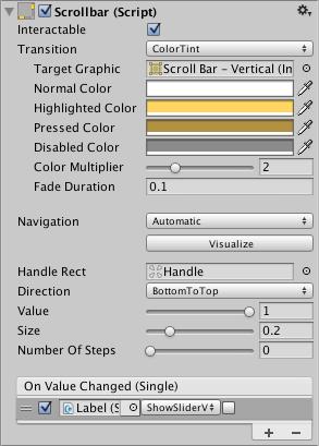 Unity - Manual: Scrollbar