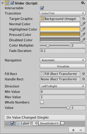 Unity - Manual: Slider