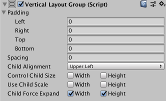 Unity - Manual: Vertical Layout Group