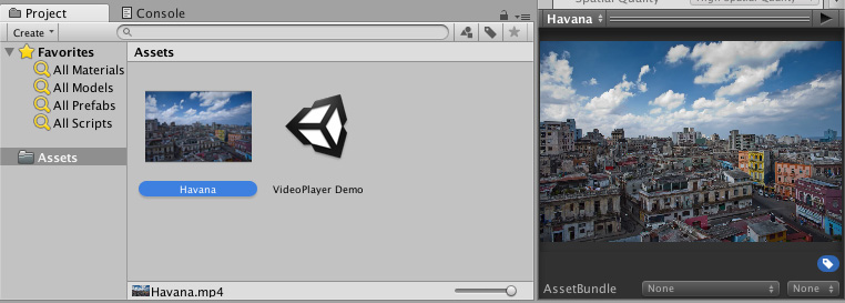 Unity - Manual: Video sources