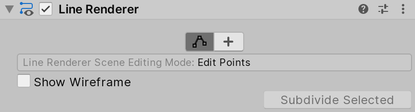 Line Renderer in Edit Points Scene Editing Mode
