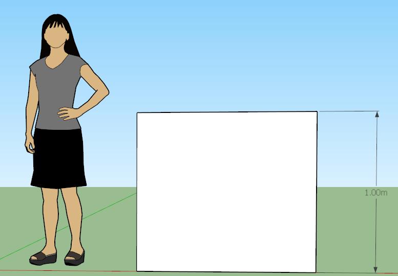 SketchUp文件,其立方体设置为1米高