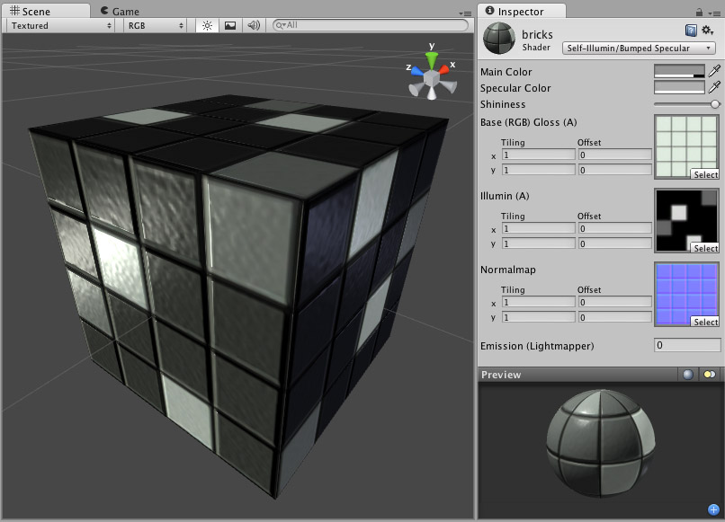 Unity - Manual: Self-Illuminated Normal mapped Specular