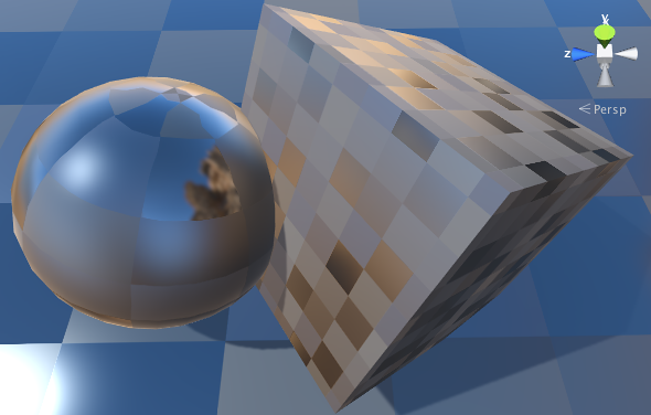 Cubemap used in a Reflection Probe on varying-smoothness surface